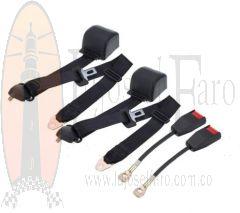 Cinturones de Seguridad 3 Puntos Universales Guaya Larga